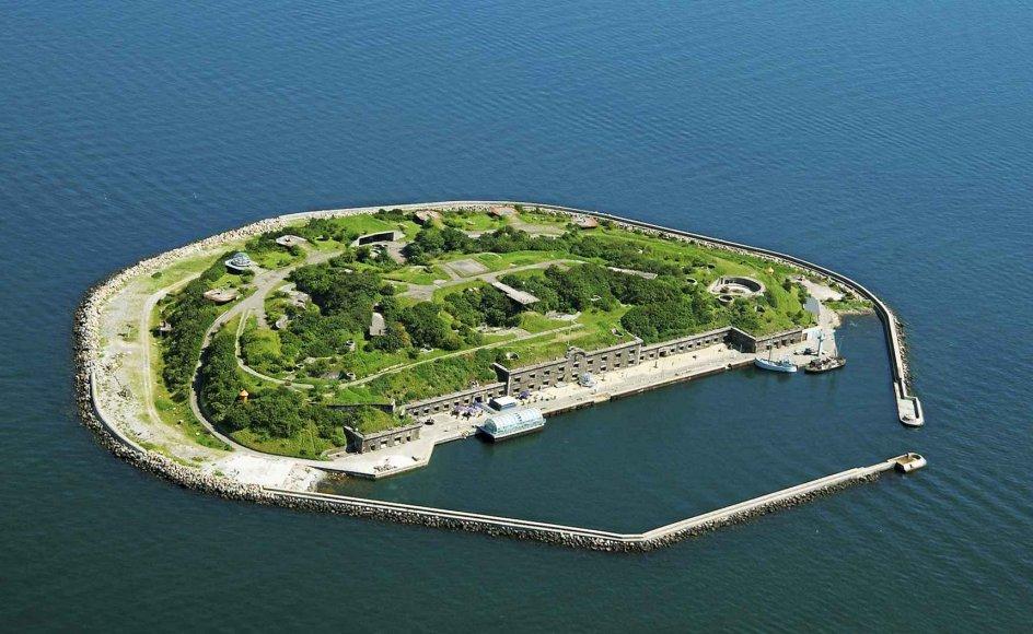 Ungdomsøen ligger på Middelgrundsfortet i Øresund, der blev bygget i slutningen af 1800-tallet som en del af Københavns befæstning. – Arkivfoto: Arne Magnussen/Ritzau Scanpix.