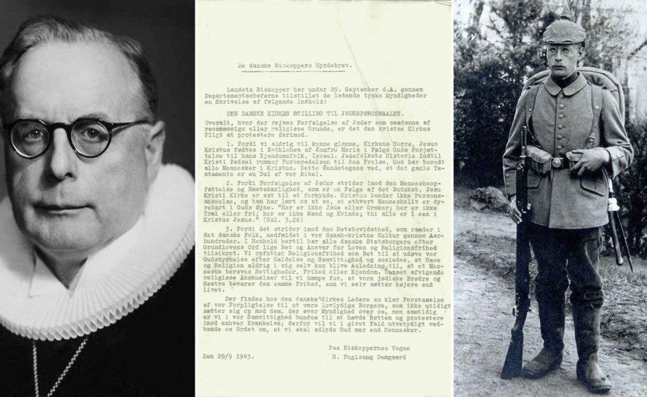Biskop Hans Fuglsang-Damgaard deltog som sønderjyde under tysk kommando i Første Verdenskrig som soldat i Frankrig og endte i krigsfangeskab. Mod forfølgelsen af jøder under Anden Verdenskrig stod han senere bag et hyrdebrev, der blev læst op i alle landets kirker.