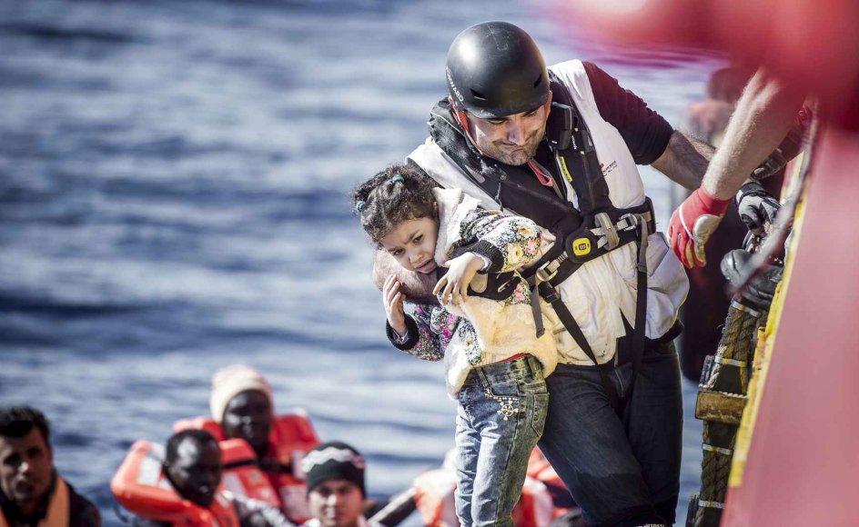 Arkivfoto fra redningsaktion i Middelhavet.