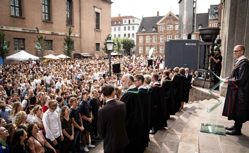 Den danske debat om identitetspolitik har i høj grad sit udspring på Københavns Universitet. Arkivfoto fra studiestart september 2019.