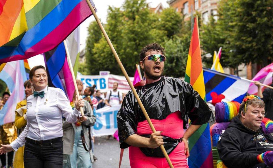 Ifølge en ny, stor undersøgelse om danskernes syn på seksualitet identificerer 1 ud af 200 danskere sig som enten transpersoner eller non-binære personer. Billede fra Copenhagen Pride i 2019.
