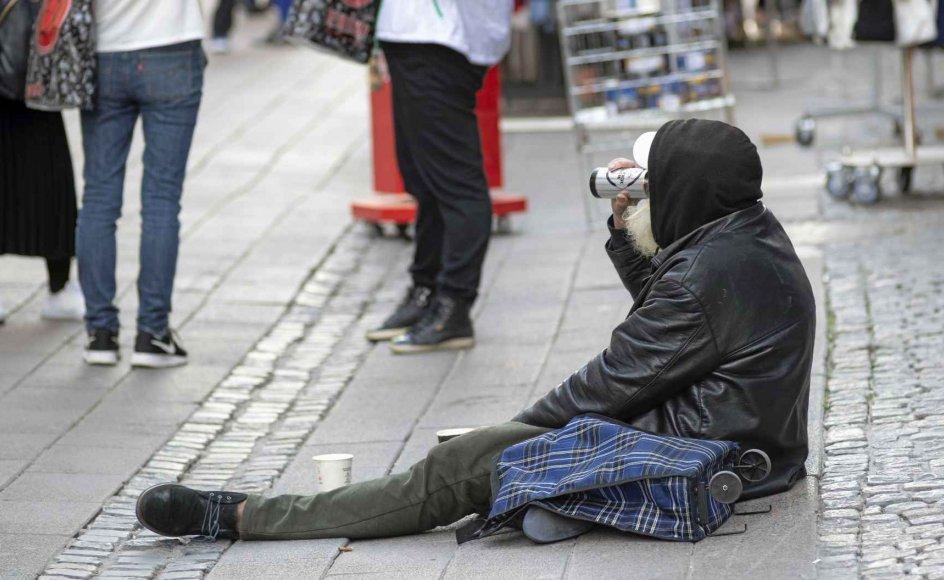 Flertallet af danske hjemløse er mænd. Der er flest mænd på bunden af vores samfund, og derfor skal vi holde fast i, at ligestilling ikke kun er for kvindernes skyld, skriver Astrid Carøe (SF). – Christian Lindgren/Ritzau Scanpix.