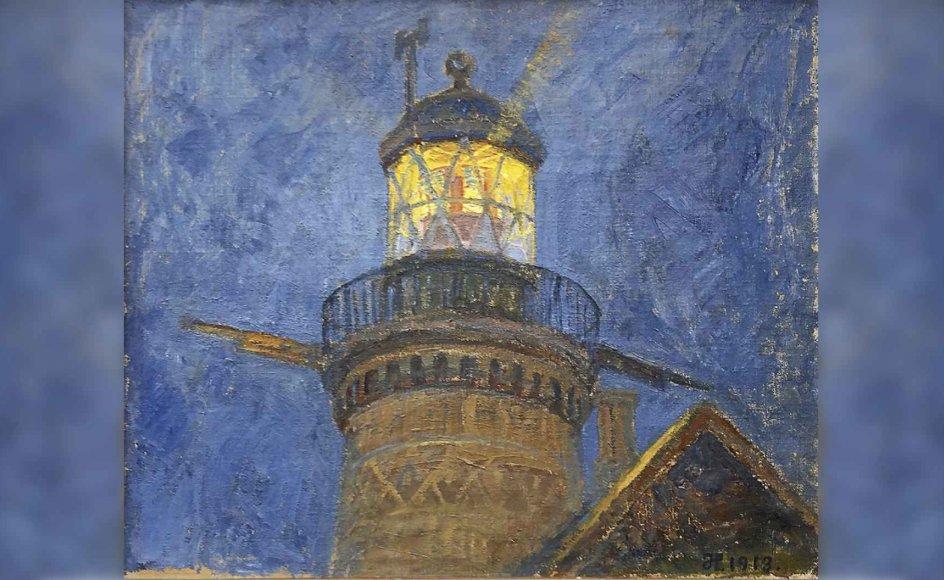 På udstillingen er der kunstnere, man hilser på som gamle venner, og andre, der åbenbart altid har levet godt og skjult på Fyn. Her er det et maleri af en af de kendte fynske malere, Johannes Larsen (1867-1961).