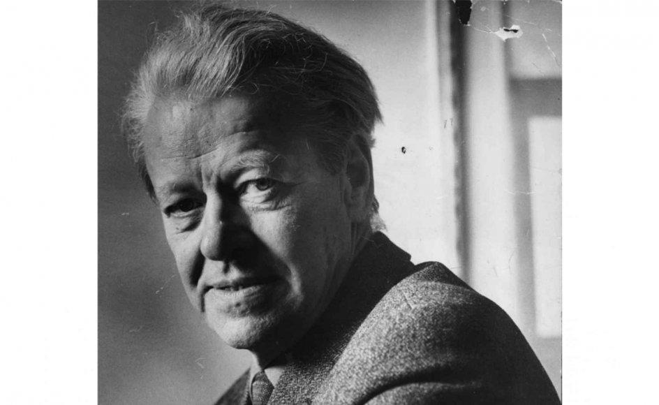 """På billedet ses K.E. Løgstrup (1905-1981). Filosof mener i ny bog, at Løgstrup havde en fascination af """"Førerskab"""", det vil sige Hitler. Det er en grov mistænkeliggørelse, skriver Hans Hauge. – Arkivfoto."""