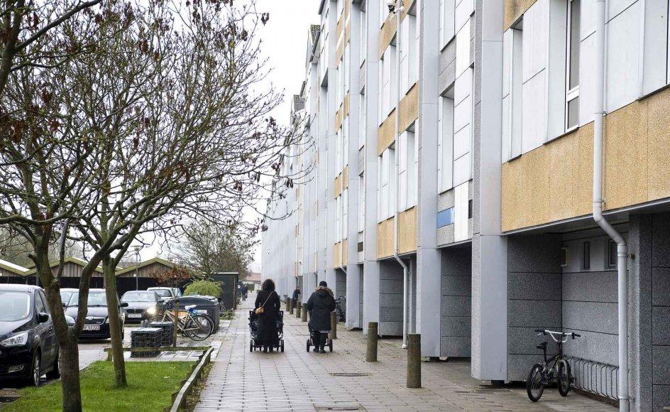 På papiret er der én ghetto mindre end i 2010, hvor 29 boligområder figurerede på listen. På billedet ses Karlemoseparken i Køge, der er kommet tilbage på listen efter at have været ude af den.