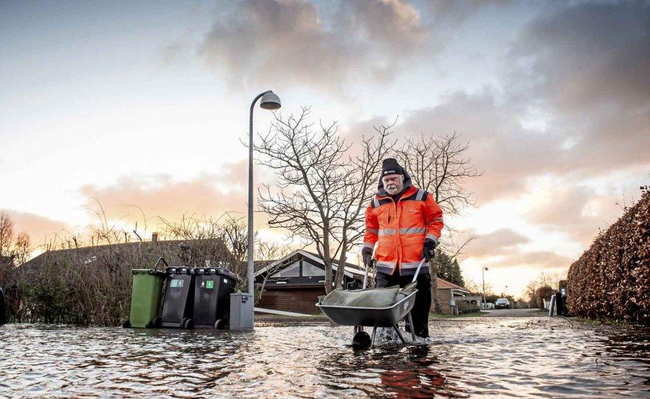 Det er situationer som denne ved Jyllinge Nordmark i januar sidste år, man også vil forsøge imødegå med den aftale om klimalov, der blev forhandlet på plads fredag aften i sidste uge. Foto: Mads Claus Rasmussen/Ritzau Scanpix.