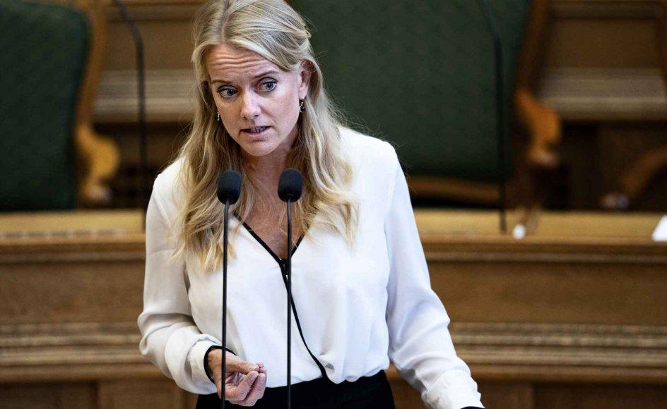 """Pernillle Vermund, Nye Borgerliges formand, brugte ordet """"perker"""" i DR-dokumentaren """"Vermund og kampen om højrefløjen"""", som blev sendt tirsdag aften. (Arkivfoto)."""
