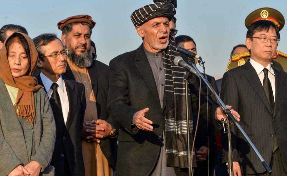 Foreløbige valgresultater viser tre måneder efter det afghanske præsidentvalg, at den siddende præsident, Ashraf Ghani, får en valgperiode mere. (Arkivfoto)