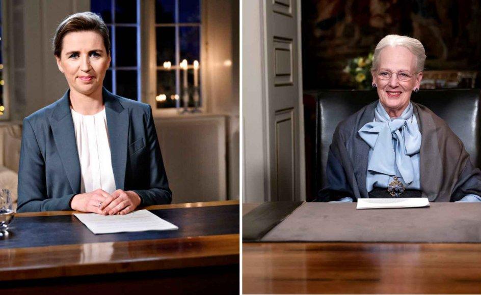 Mens statsminister Mette Frederiksen (S) holdt sin første nytårstale nogensinde, var det Dronningens nytårstale nummer 48. Dronning Margrethe holdt sin første nytårstale 1972.