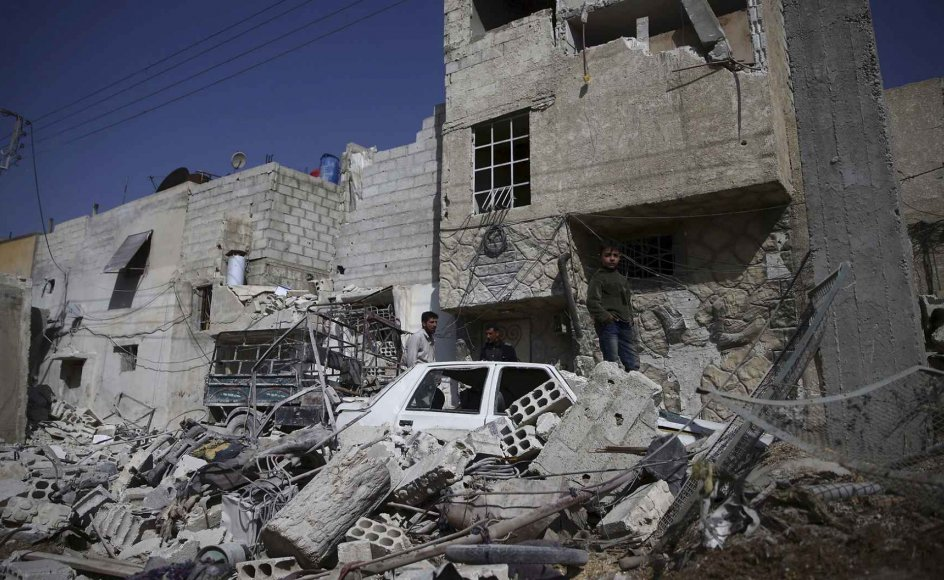 Det er seks år siden, at Islamisk Stat begyndte at tage kontrol over Syrien og Irak. Billede fra forstaden Douma i Damaskus, Syrien, i 2016.