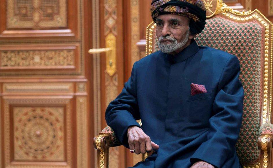 Omans sultan, Qaboos bin Said, er død, 79 år.  Hans fætter Haitham bin Tariq al-Said er taget i ed som ny sultan, oplyser regeringen i hovedstaden Muscat. (Arkivfoto)