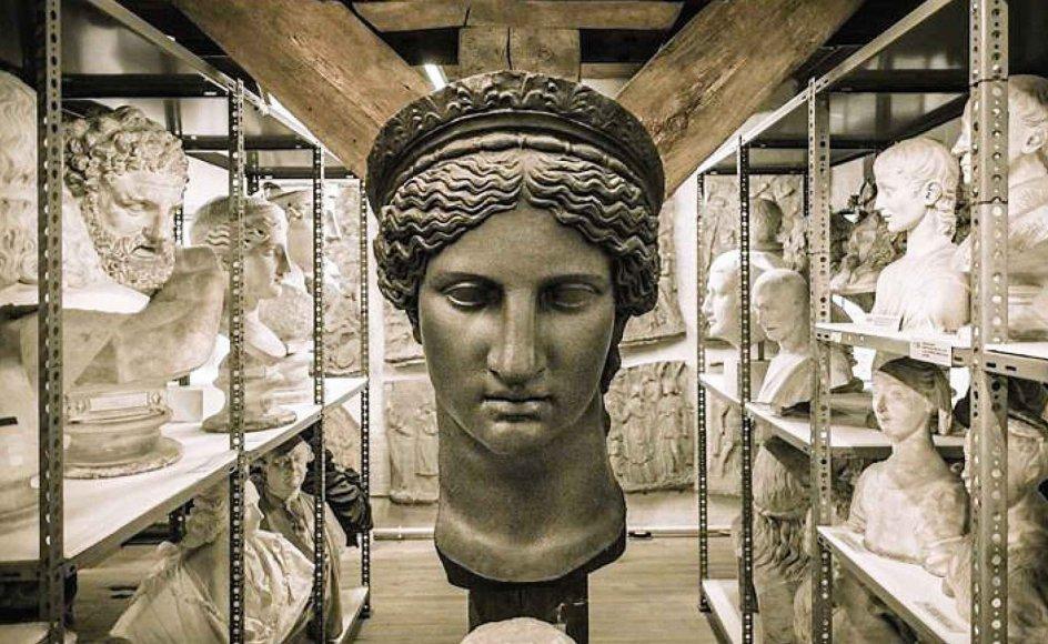 Den Kongelige Afstøbnings-samling rummer flere end 2000 gipsafstøbninger af skulpturer  fra 2500 f.Kr. til omkring 1600. Men de er lukket for offentligheden. – Foto: SMK.