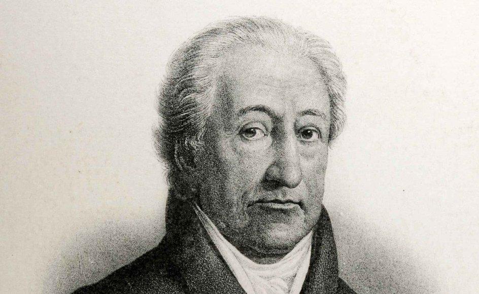 """Den tyske forfatter og filosof Johann Wolfgang von Goethe (1749-1832) led under en følelse af, at """"sjælen er lang"""", men livet kort."""
