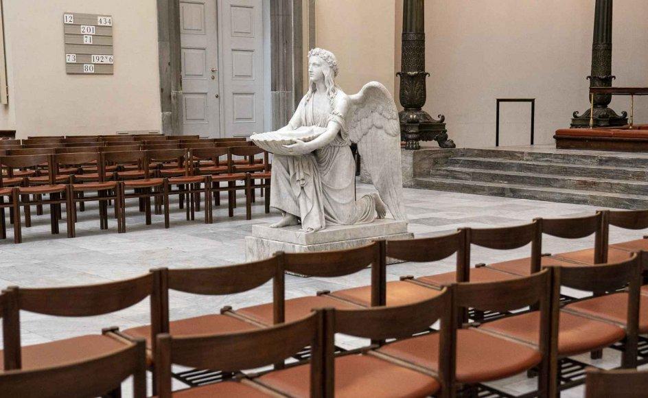 At det ikke skulle være at forudsige, hvor mange mennesker der kommer i kirke, er ikke rigtigt, mener flere eksperter. De siger til Kristeligt Dagblad, at man med sandsynlighed kan forudsige, hvor mange kirkegængere de enkelte kirker får besøg af, om end der i starten af genåbningen kan være flere end normalt. Arkivfoto.