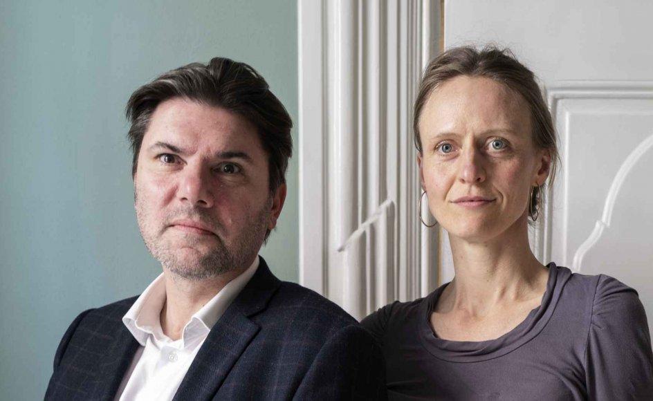"""""""Et land kan ikke være kristent,"""" skriver Ingrid Ank (th.) i en direkte henvendelse til Venstres udlændinge- og integrationsordfører, Mads Fuglede (tv.). – Foto: Mikkel Møller Jørgensen."""