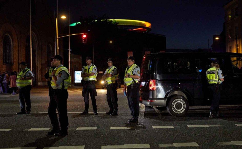 Også i sidste weekend måtte Østjyllands Politi rykke ud, da AGF-fans fejrede bronzemedaljer.