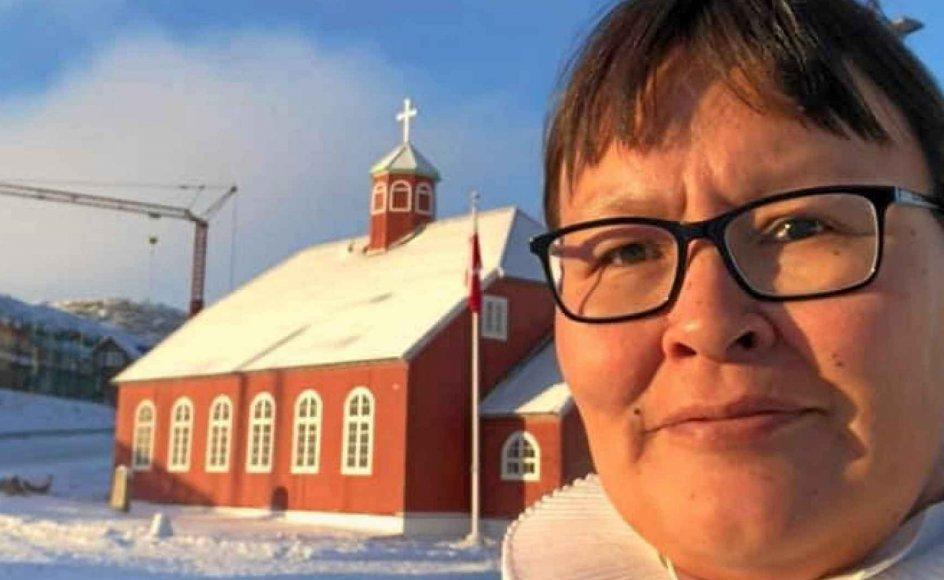 Paneeraq Siegstad Munk er nyvalgt biskop i Grønland, men hun har endnu ikke fået nogen bispevielse. – Foto: Arne Munk.