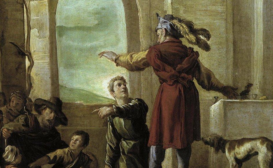 Da de rige siger nej, inviteres de fattige til festen i søndagens fortælling. Her er den skildret af den italienske kunstner Domenico Fetti (cirka 1589-1623). – Foto: Akg-Images/Ritzau Scanpix.