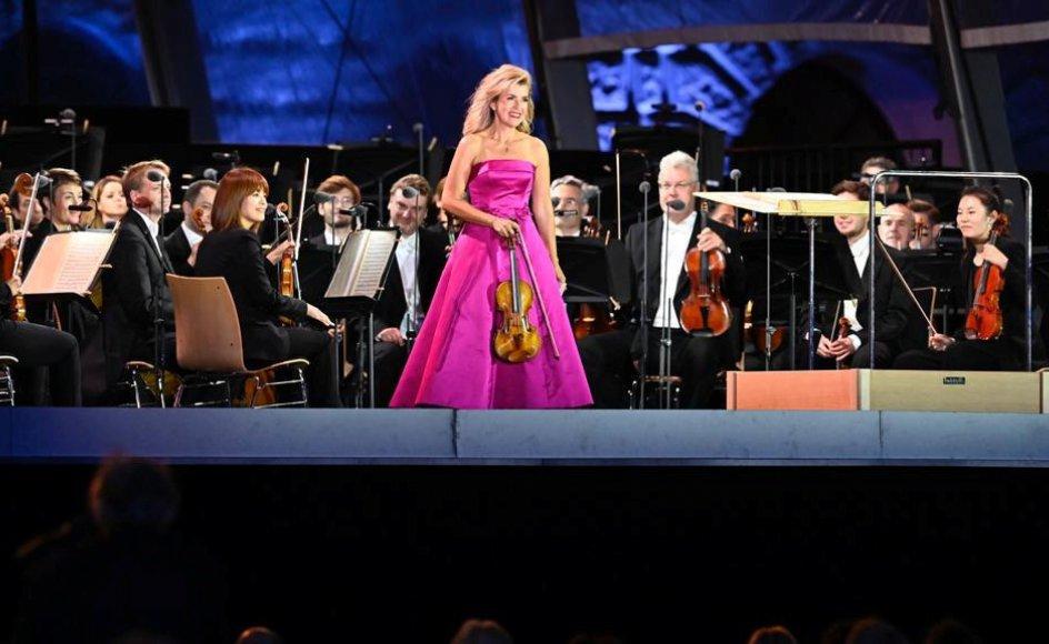 Den tyske violinist Anne-Sophie Mutter ses her ved en koncert med Berlins Staatsoper i 2020