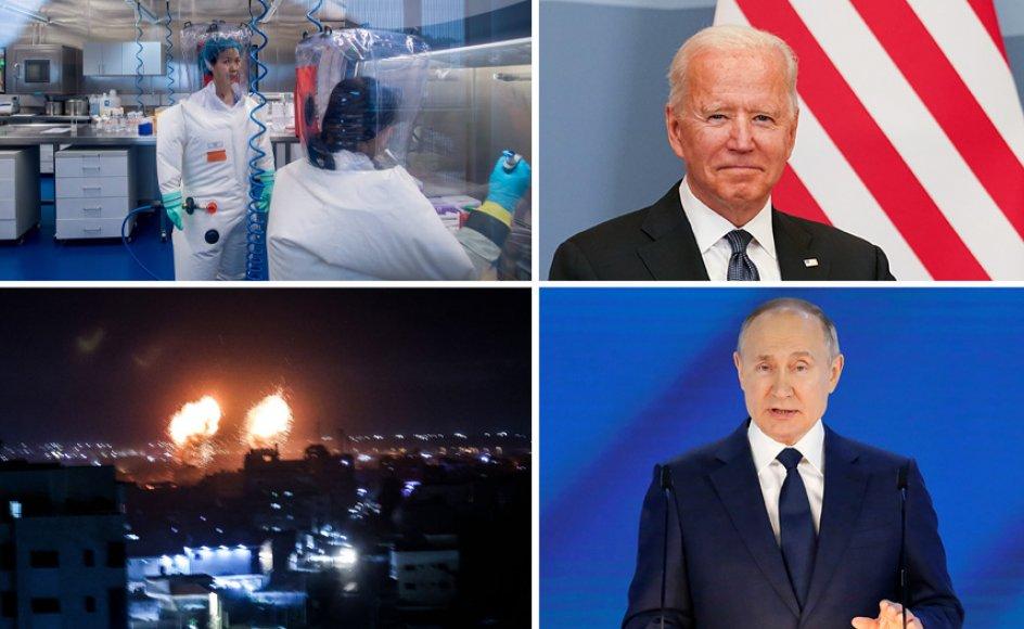Kinesisk virolog bryder tavsheden, Israel retter nye luftangreb mod Gaza, og Putin og Biden mødes i Genève.