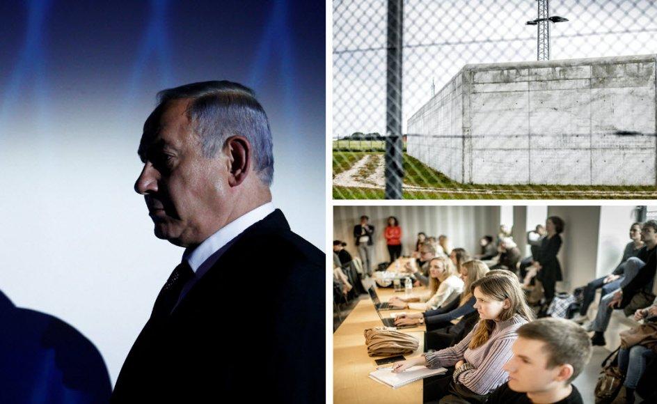 Israelerne har fået ny regering og nye ledere, danske fængsler mangler plads til indsatte, og undersøgelse viser udbredt sexisme på videregående uddannelser. Foto af Netanyahu: Amir Cohen/Reuters/Ritzau Scanpix. Genrefotos af fængsel og studerende: Asger Ladefoged/Ritzau Scanpix