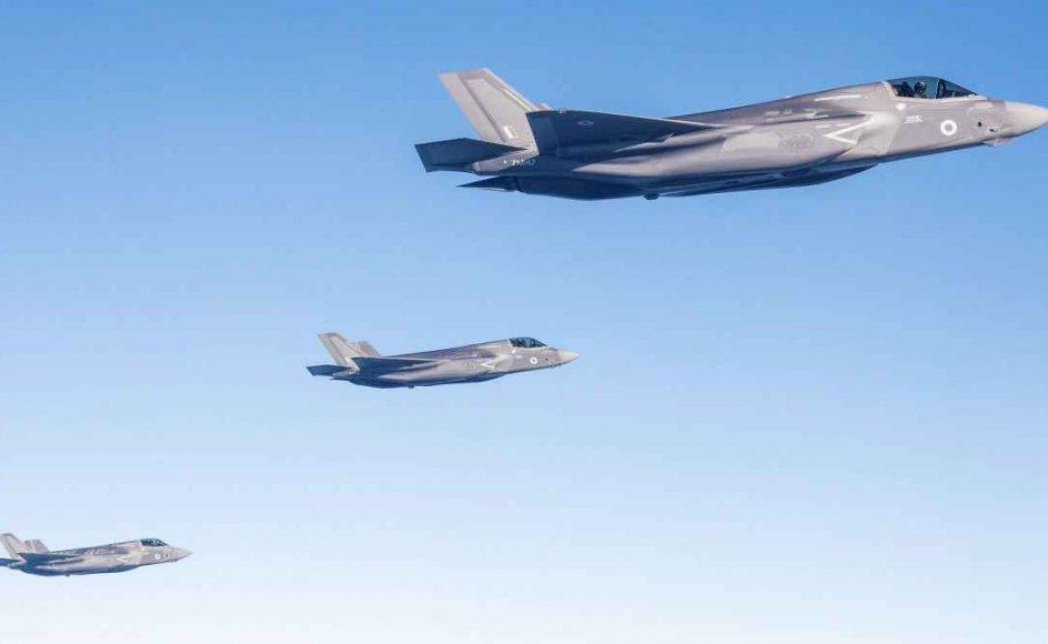 F35 fly letter den 6. juni 2018 fra Marine Corps Air Station Beaufort i USA og flyver mod deres nye base, RAF Marnham, Storbritannien. Om nogle få år kan lignende F35 fly ses herhjemme.