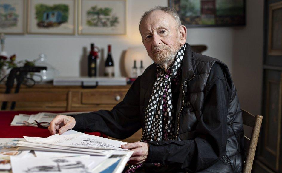 Bladtegneren Kurt Westergaard fik vendt op og ned på sit liv, da han i 2005 på blot en time tegnede profeten Muhammed med en bombe i turbanen, og han endte med at tilbringe sit otium sammen med livvagter.