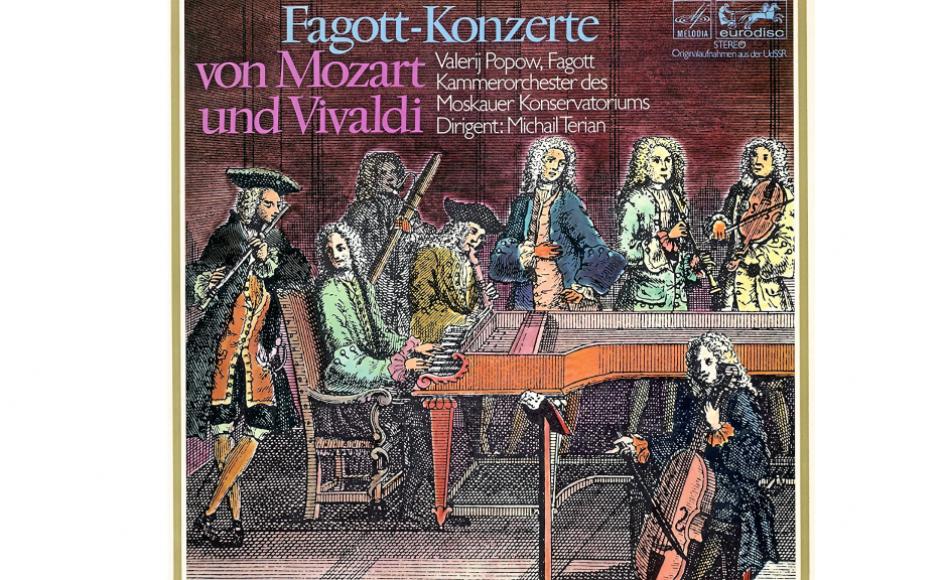 """På pladen """"Fagott-Konzerte von Mozart und Vivaldi"""" kan man høre den russiske fagottist Valerij Popow spille Mozarts muntre fagotkoncert."""