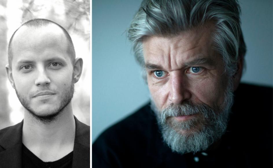 """I Knausgårds (til højre) """"Morgenstjernen"""" klæber katastrofen til siderne, skriver sognepræst Hans Nørkjær (til venstre)."""
