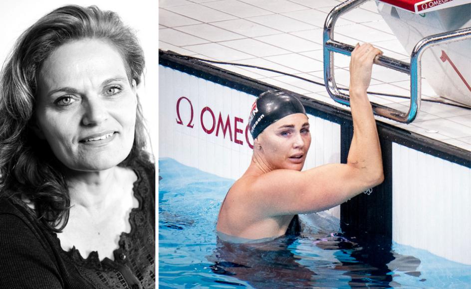 """Jeanette Ottesen (til højre), Danmarks mest vindende svømmer, har """"ikke har været den mor, hun gerne ville være"""", har det blandt andet lydt på TV 2. Liselotte Sabroe/Ritzau Scanpix"""