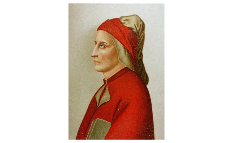 Dante blev født i 1265 i Firenze, der på den tid var en selvstændig bystat. Dantes familie havde midler, og sønnen kunne studere, men han blev snart inddraget i lokalpolitiske bataljer, som førte til, at han i 1302 blev dømt til landflygtighed.