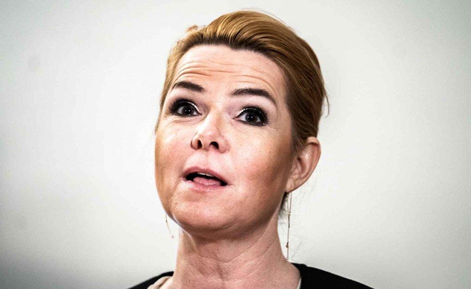 Inger Støjberg (V) efter Venstres gruppemøde, torsdag den 14. januar 2021. Venstre stemte for, at stille partiets Inger Støjberg for en rigsret i sagen fra 2016 om ulovlig adskillelse af alle asylpar, hvor den ene var mindreårig.