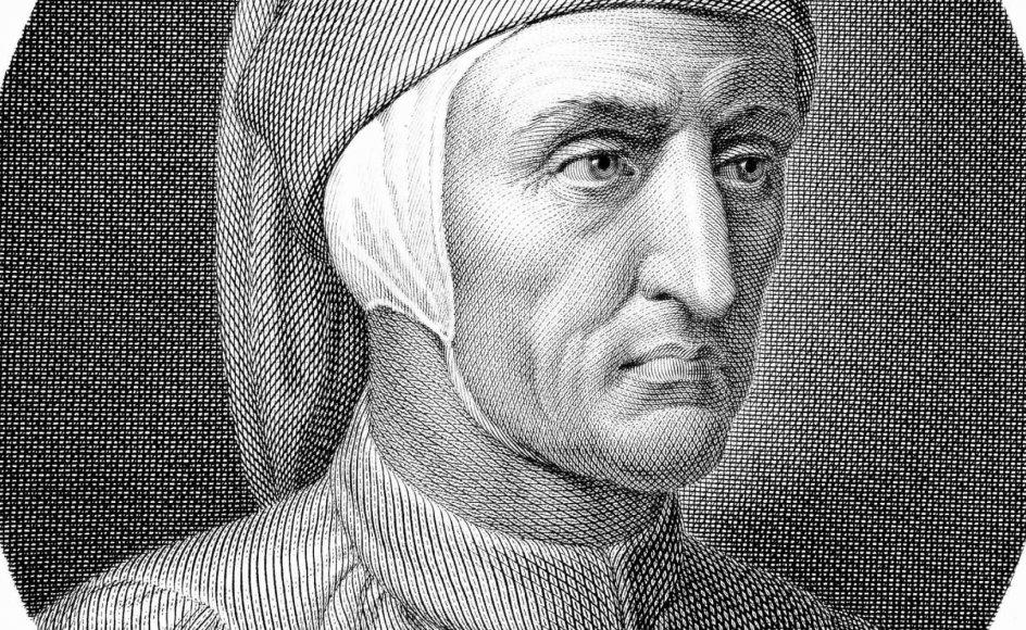 Dante blev sendt i eksil fra sit elskede Firenze, men fejres i dag samme sted som byens berømte søn. – Foto af italiensk stålgravering fra 1812: Granger/Shutterstock/Ritzau Scanpix.