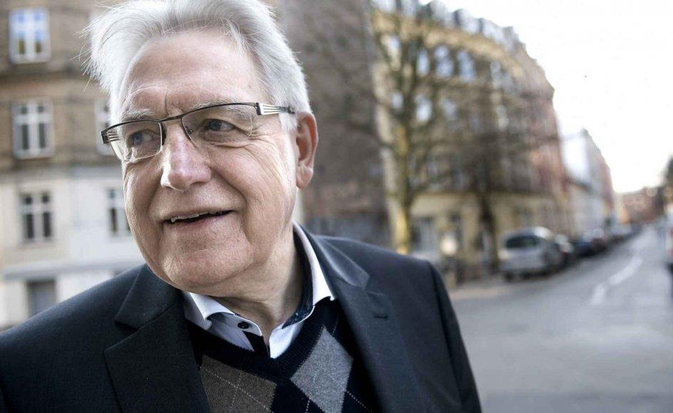 78-årige Viggo Mortensen er teologiprofessor emeritus ved Aarhus Universitet, hvor han blandt andet var lektor i etik. – Foto: Leif Tuxen.