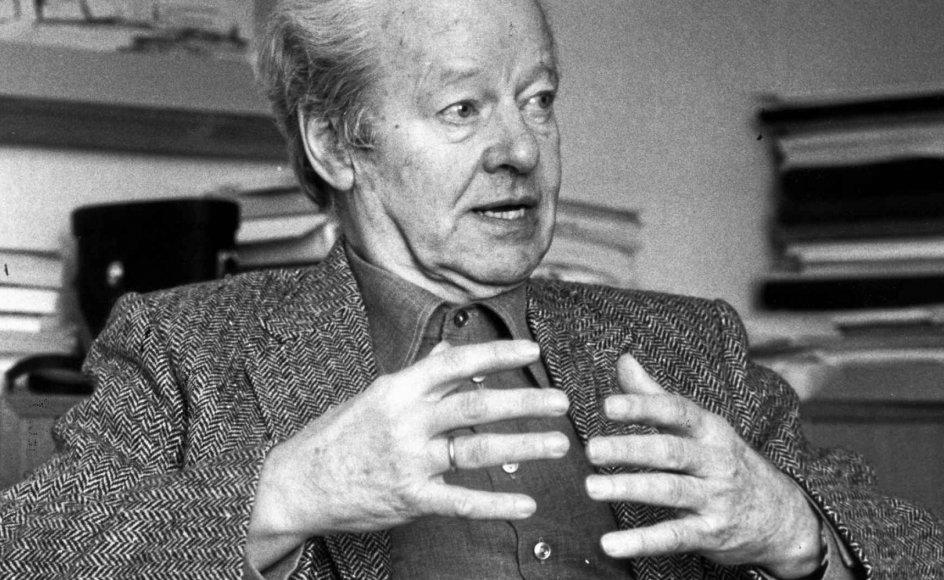 Teologen og filosoffen K.E. Løgstrup (1905-1981) er 40 år efter sin død genstand for debat. – Foto: Erik Jepsen/Ritzau Scanpix.