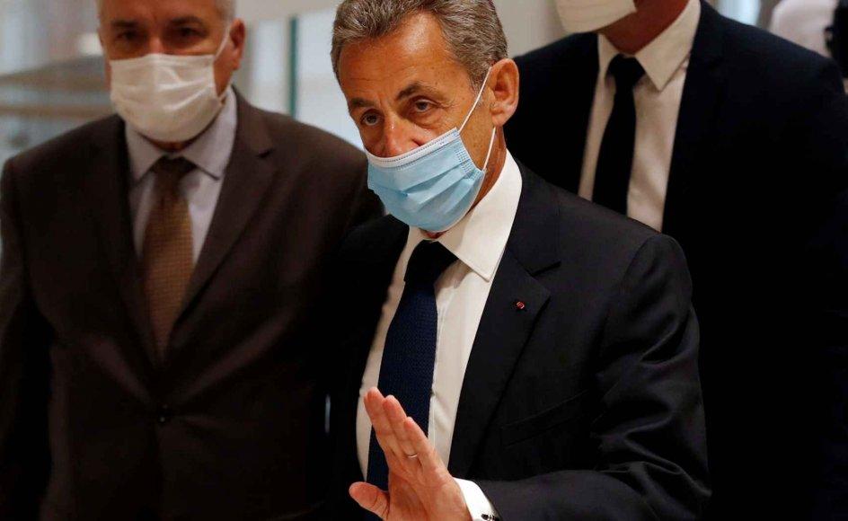 Frankrigs tidligere præsident Nicolas Sarkozy, da han mandag ankom til domstolen i Paris. Her blev han kendt skyldig i korruption. Han har ti dage til at beslutte, om han vil anke.