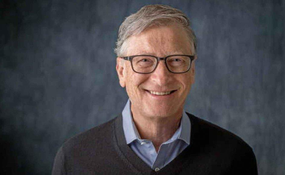 Bill Gates har i mange år brugt sin tid på den fond, han sammen med hustruen Melinda (som i den kritisable danske oversættelse kaldes Belinda) har oprettet til fordel for global sundhed, og som de har finansieret med 50 milliarder dollars. – Foto: Bill Gates Foundation.
