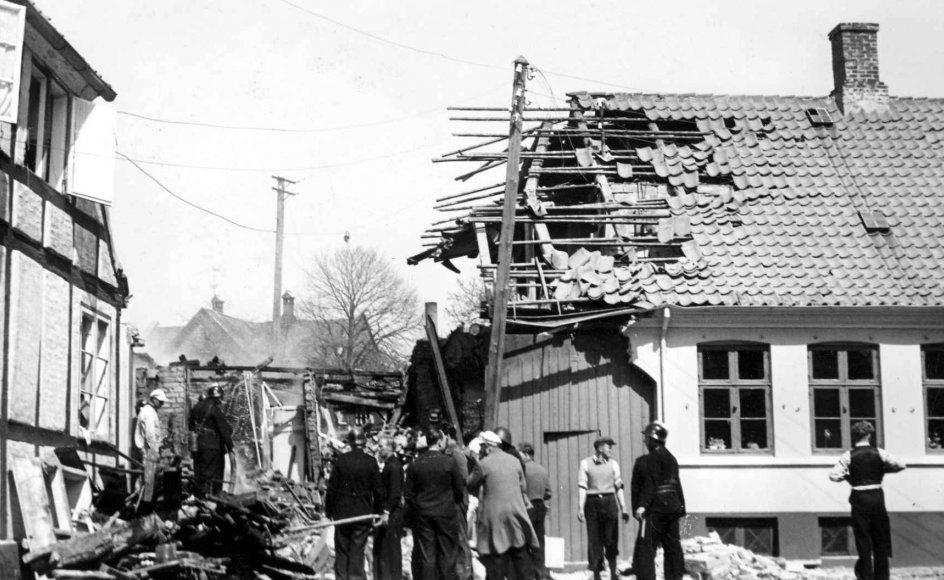I denne slutkamp måtte 10 bornholmere lade livet som en del af Anden Verdenskrigs allersidste civile ofre for et luftangreb i Europa. Her ses et af de huse på Bornholm, der blev bombet af russerne i slutningen af Anden Verdenskrig.