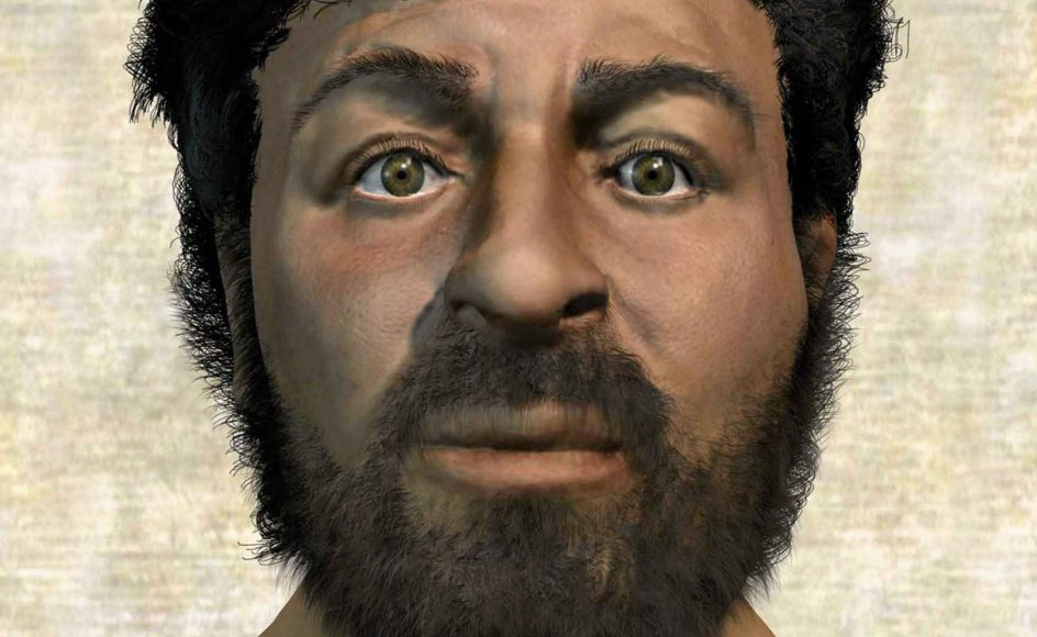 Der er uenighed om, hvordan Jesus har set ud. Her er et computer-genereret bud, som har været vist på BBC. Men i dag er der ikke den store forskningsmæssige diskussion om, at personen har eksisteret. Det gengives dog sådan i Gyldendals skolemateriale. – Foto: Ritzau Scanpix.