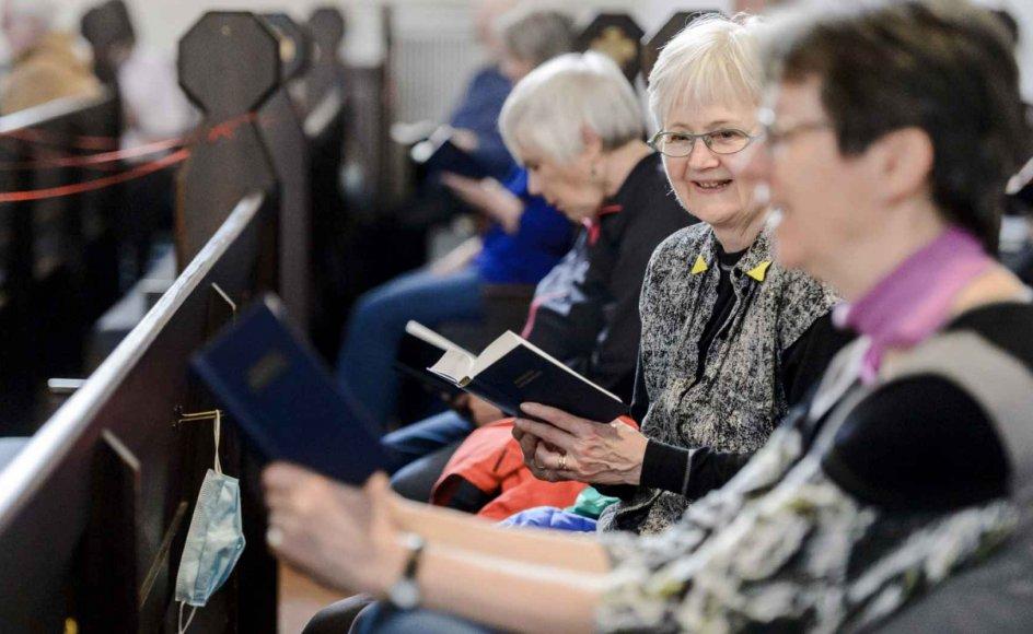 Der blev igen sunget i fællesskab i Sankt Markus Kirke i København.