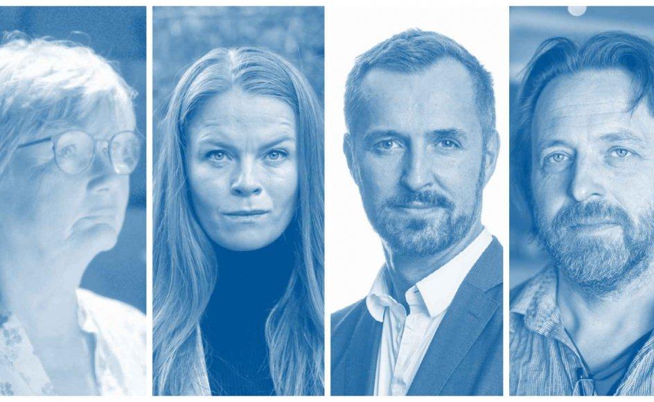 En skuespiller, anmelder, teaterdirektør og en sufflør ser tilbage på, hvordan coronakrisen prægede det danske teaterliv. Foto: Henning Bagger/Ritzau Scanpix, Linda Kastrup/Ritzau Scanpix, Søren Bidstrup/Ritzau Scanpix og Iben Gad.
