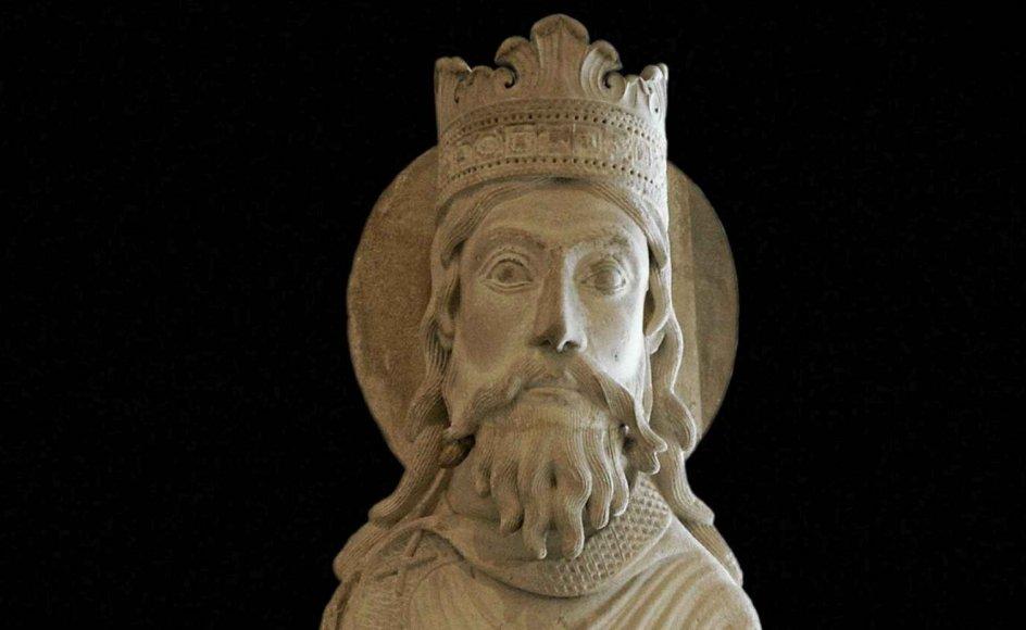 En fransk skulptur fra anden halvdel af det 12. århundrede forestiller kong Salomon. – Foto: Akg-Images/Ritzau Scanpix.