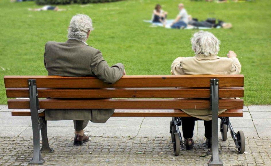 En analyse fra Ældre Sagen viser, at ensomhed og depression har større negative konsekvenser for den enkeltes trivsel og for samfundet som helhed end sygdomme som cancer, demens og diabetes. – Arkivfoto: Mads Jensen/Ritzau Scanpix.