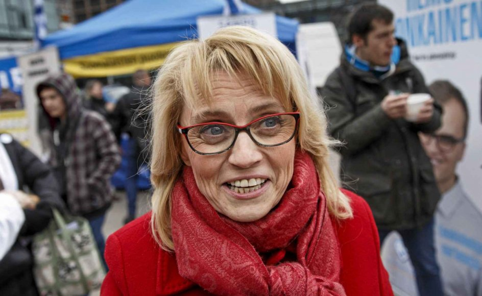 """Jeg vil forsvare min ret til at bekende min tro,"" siger den finske politiker Païvi Räsänen. – Foto: Roni Re- komaa/AFP/Ritzau Scanpix."