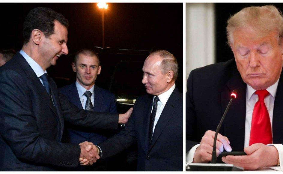 USA's tidligere præsident Donald Trump er suspenderet fra Facebook. Men diktatorer som eksempelvis Syriens Assad og Ruslands Putin kan stadig bruge sin ytringsfrihed på det sociale medie.