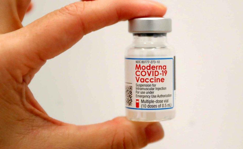 Moderna, der står bag en af de to coronavacciner, som bruges i Danmark, har tjent 1,2 milliarder dollar i første kvartal. (Arkivfoto)