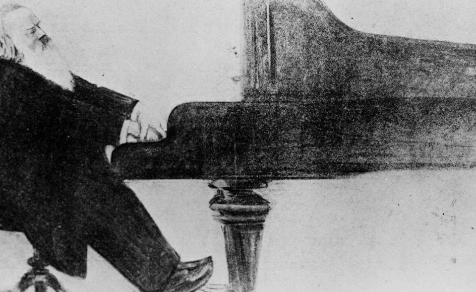 Brahms blev den største oplevelse på en aften, hvor anmelderen opdagede, hvor meget han havde savnet at opleve DR Symfoniorkestret folde sig ud. Her ses den tyske komponist selv ved klaveret omkring år 1890.