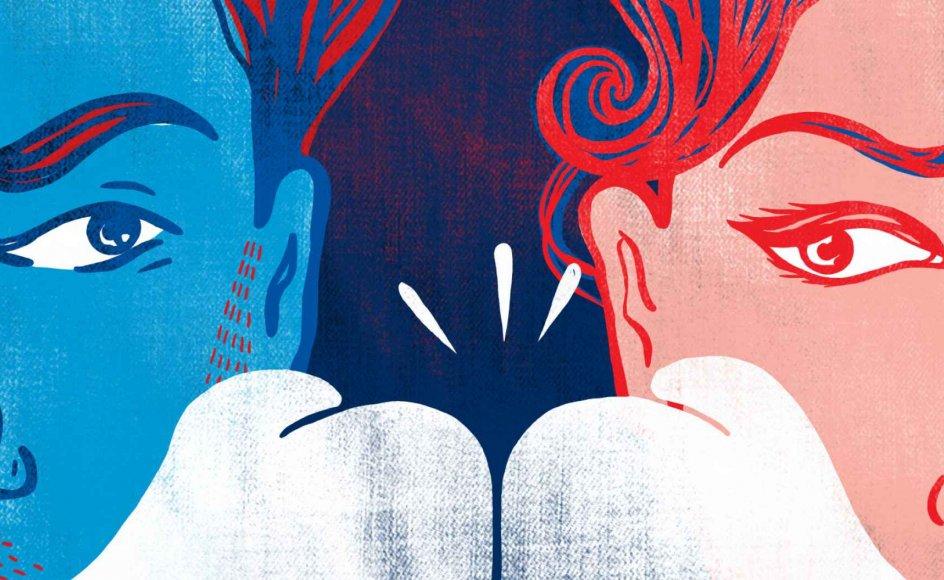 """""""Jeg er tilhænger af det, man kunne kalde en tillægsadfærd. At man i stedet for at fokusere på at undgå konflikt fokuserer på så hurtigt som muligt at række ud og genskabe kontakten"""", skriver parterapeut Martin Østergaard. Illustration: Fanatic Studio/Science Photo Library/Ritzau Scanpix"""