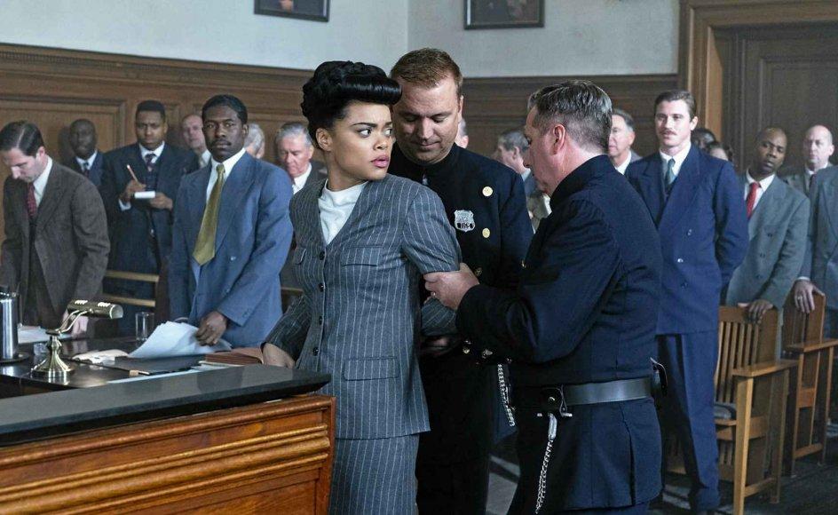 """""""The United States vs. Billie Holiday"""" fortæller historien om Billie Holiday som både en stor sangerinde og borgerrettighedsforkæmper. Andra Day modtog en oscarnominering for rollen."""