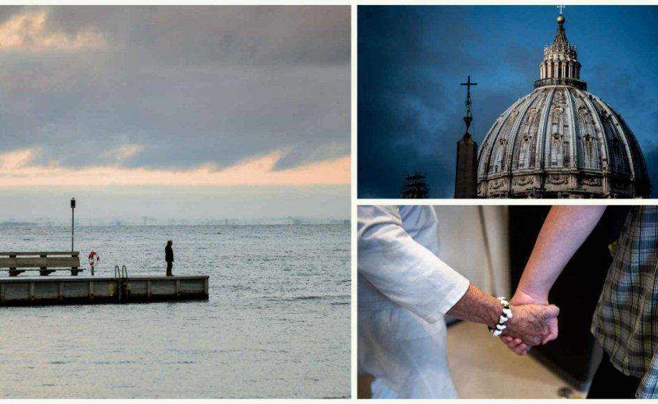 Havet ved Svanemøllen Havn i København udsender lyde, der begejstrer på Københavns Universitet, Vatikanet har prøvet noget nyt, som de ikke skulle have gjort, og antallet af frivillige ældre er faldet under pandemien.